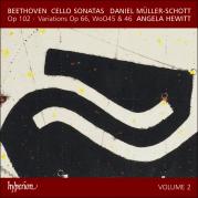 Обложка альбома Cello Sonatas, Volume 2: Op. 102 / Variations, op. 66, WoO 45 & 46, Музыкальный Портал α