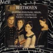 Обложка альбома Quatuors pour piano, violon, alto et violoncelle WoO 36 N°1, 2, 3 et Opus 16 bis, Музыкальный Портал α