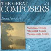"Обложка альбома The Great Composers, 24: ""Moonlight"" Sonata / ""Appassionata"" Sonata / ""Pathetique"" Sonata, Музыкальный Портал α"