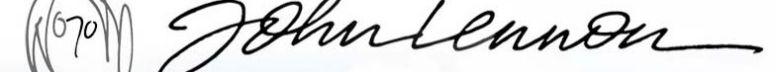 Автограф Джон Леннон (John Lennon), Музыкальный Портал α